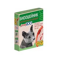 Ошейник БИО 35см Доктор ZOO от блох, клещей КРАСНЫЙ для кошек и мелких собак (ZR0922) - фото 10794
