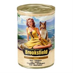 Корм 400г BROOKSFIELD говядина с рисом для собак ж/б (5654000) - фото 4530
