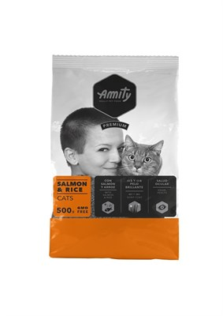 Корм 500г AMITY PREMIUM лосось с рисом для кошек (04GA005004) - фото 4642