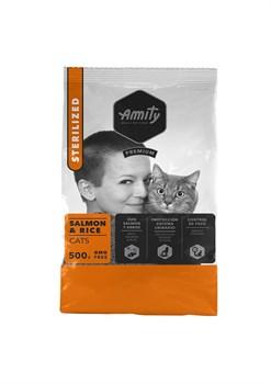 Корм 500г AMITY PREMIUM Sterilized лосось с рисом для стерилизованных кошек (04GA005005) - фото 4645