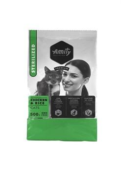 Корм 500г AMITY PREMIUM Sterilized курица с рисом для стерилизованных кошек (04GA005003) - фото 4648