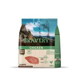 Корм 400г BRAVERY PUPPY курица для щенков крупных и средних пород (04PE004001) - фото 4651