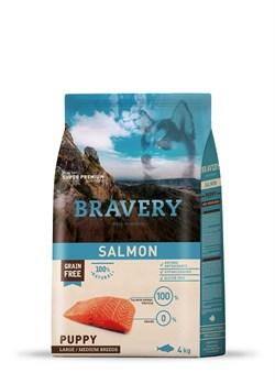 Корм 4кг BRAVERY PUPPY лосось для щенков крупных и средних пород (04PE040070) - фото 4656