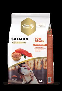Корм 14кг AMITY SUPER PREMIUM LOW GRAIN лосось для собак (04PE140004) - фото 4662