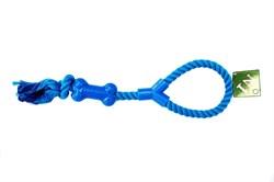 Грейфер 40см с петлей и узлами ,цвет в ассортименте для собак (ГР338/зел/крас/син) - фото 4665