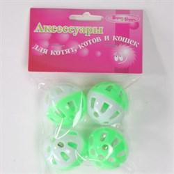 Мяч 3,5см Шурум-Бурум пластиковая игрушка для кошек (уп.4шт) (CT12006) - фото 4733