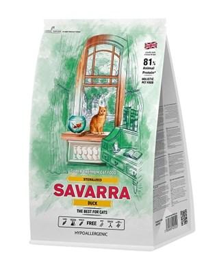 Корм 400г SAVARRA с уткой  для стерилизованных кошек (5649160) - фото 4818
