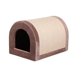 Домик Сундучок 36*50*35см JOY цвет шоколад для кошек - фото 4843
