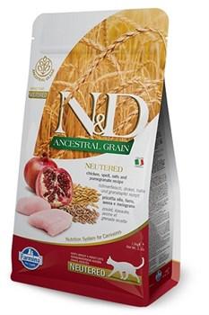 Корм 1,5кг ND Low Grain Chiken and Pomegrante Neutered курица с гранатом для кошек(11166) - фото 5011