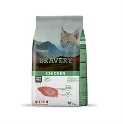 Корм 2кг BRAVERY Kitten с курицей для котят - фото 5107