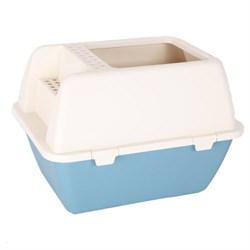 Туалет-бокс 52,7х39,7х37см Шурум-Бурум синий поддон для кошек (Р1190) - фото 5143