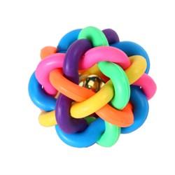 Мяч плетеный 6,9см Шурум-Бурум резиновая игрушка для собак (Р526) - фото 5154