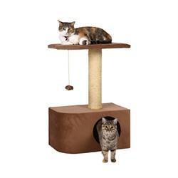 Домик Аврора 50х30х75см JOY цвет молочный шоколад для кошек - фото 5188