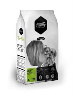 Корм 3кг AMITY PREMIUM ADULT MINI для собак мелких пород - фото 5207