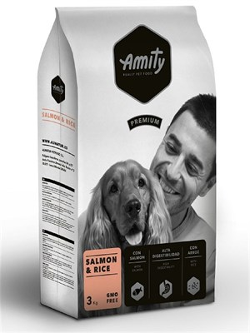 Корм 3кг AMITY PREMIUM лосось с рисом для собак - фото 5209
