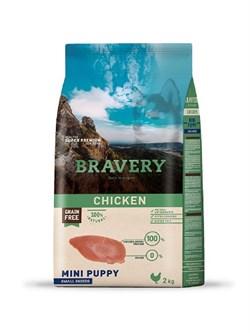 Корм 2кг BRAVERY PUPPY курица для щенков мелких пород - фото 5242