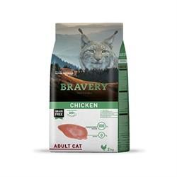 Корм 2кг BRAVERY курица для кошек - фото 5246