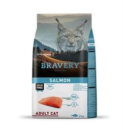 Корм 2кг BRAVERY лосось для кошек - фото 5250