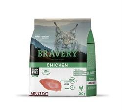 Корм 400г BRAVERY курица для кошек - фото 5257