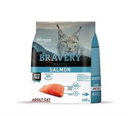 Корм 400г BRAVERY лосось для кошек - фото 5261