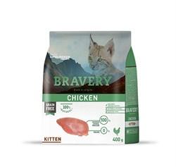 Корм 400г BRAVERY Kitten курица для котят - фото 5265