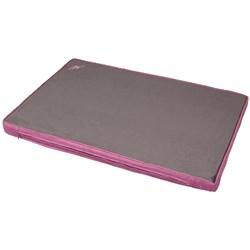 Матрас 116х75х8см JOY большой для собак серый с фиолетовым - фото 5374