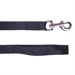 Поводок 25мм х 5м стропа ШУРУМ-БУРУМ черный для собак - фото 5450