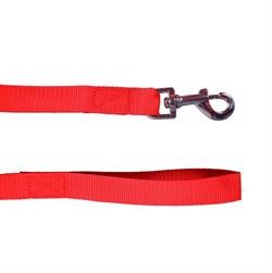 Поводок 25мм х 5м стропа ШУРУМ-БУРУМ красный для собак - фото 5458