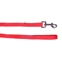 Поводок 15мм х 2м стропа ШУРУМ-БУРУМ красный для собак - фото 5475