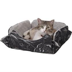 Лежанка раскладная на кнопках 40х30х13см JOY для кошек - фото 5536