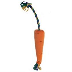 Морковка мини 36х5см JOY текстильная игрушка для собак - фото 5538