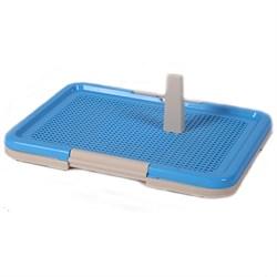 Туалет 47х33х14см Шурум-Бурум синий со столбиком для собак  - фото 5565