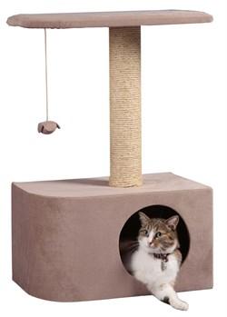 Домик Аврора 50х30х75см JOY серо-бежевый для кошек - фото 5633