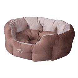 Лежанка круглая 50х40х20см JOY Кристалл для собак - фото 5735