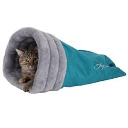Нора меховая 47х42х18см JOY голубая для кошек - фото 5741