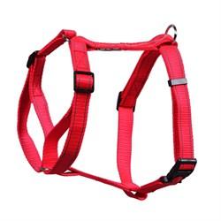 Шлейка 25мм х 60-90см L JOY стропа красная со светоотражающими элементами для собак - фото 5769