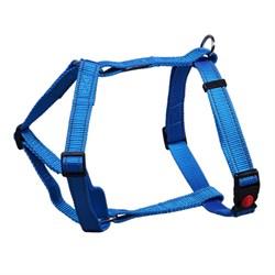 Шлейка 25мм х 60-90см L JOY стропа синяя со светоотражающими элементами для собак - фото 5770