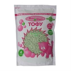 Наполнитель 4л Шурум-Бурум ТОФУ Зеленый чай растительный комкующийся для кошек - фото 5777