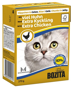 Корм 370г Bozita с кусочками рубленной курицы в желе д/кошек (4917) - фото 5911