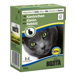 Корм 370г Bozita с кусочками кролика в соусе для кошек (4932) - фото 5917