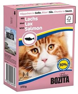 Корм 370г Bozita с кусочками лосося в соусе для кошек (4933) - фото 5923