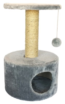 Домик круглый 38х38х60см Шурум-Бурум серый для кошек - фото 6128