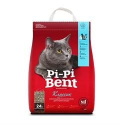 """Наполнитель 10кг Pi-Pi-Bent """"Классик"""" комкующийся для кошек (3897С) - фото 6202"""