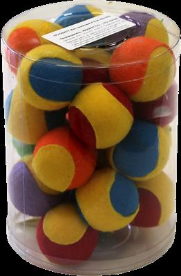 Мяч теннисный 4.5см Шурум-Бурум текстильная разноцветная игрушка д/кошек (CT12029) - фото 6373