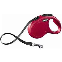 Рулетка 3м Flexi New Classic XS красная с ремнем для собак 12кг(023105) - фото 6481