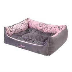 Лежанка квадратная 58х50х20см JOY Spring серебристая для собак - фото 7134