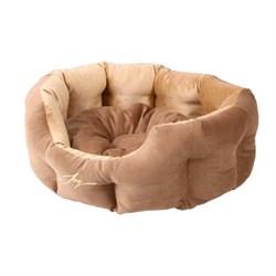 Лежанка круглая 50х40х20см JOY светлая для собак - фото 7144