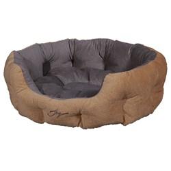 Лежанка круглая 60х50х21см JOY светлая для собак - фото 7149