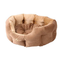 Лежанка круглая 70х55х22см JOY светлая для собак - фото 7155