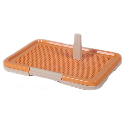 Туалет 47х33х14см Шурум-Бурум оранжевый со столбиком для собак  - фото 7214